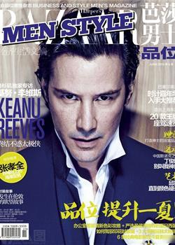 56岁欧美帅哥基努·里维斯芭莎男士杂志封面写真