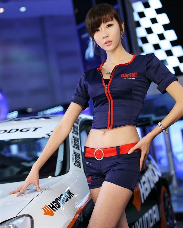 韩国性感美女车模高清壁纸