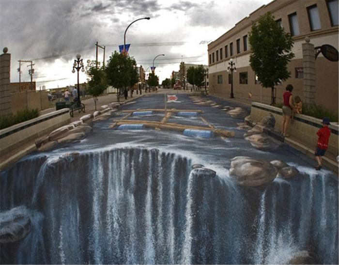 世界上最大街头3D立体画