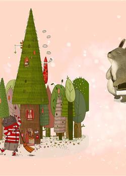 梦幻卡通动物森林聚会主图背景