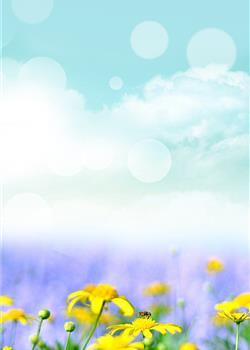 春天小清新背景图 高清手机壁纸