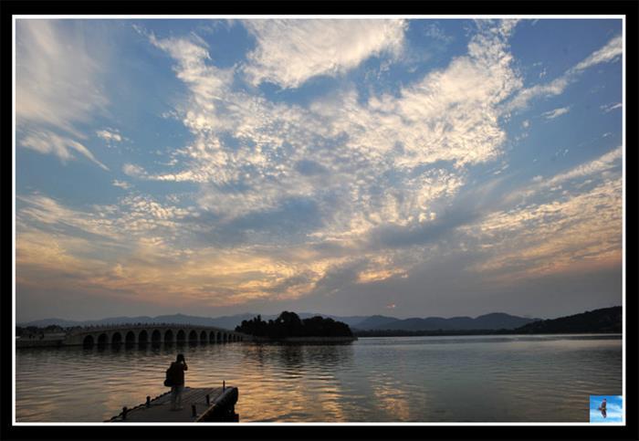 摄影图片云起颐和园美景
