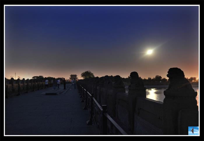 摄影图片七月十六卢沟桥的夜晚