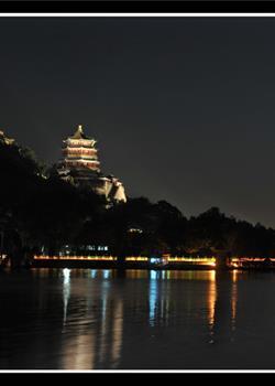 摄影图片八月十六颐和园的夜晚