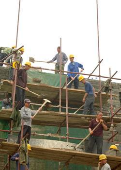 摄影图片北口关正在修建中