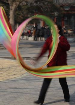 摄影图片 彩绸飞舞迎新春 秋天记忆给您拜年啦!