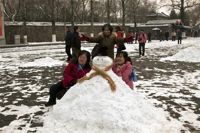摄影图片 北京 快乐的雪中行