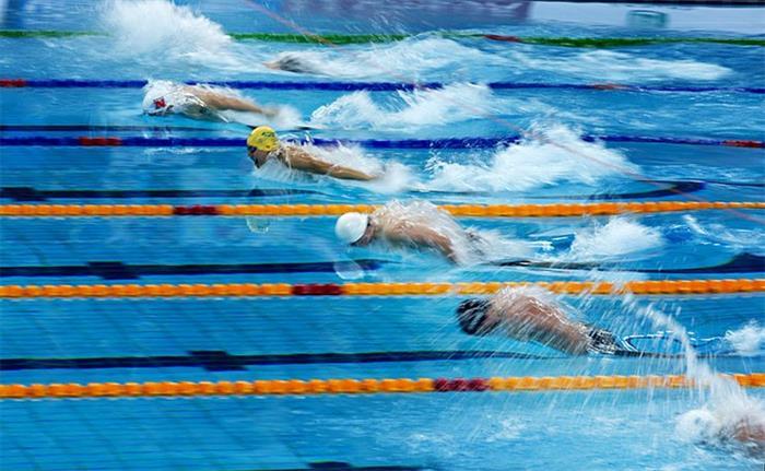 摄影图片 北京短池游泳世界杯赛