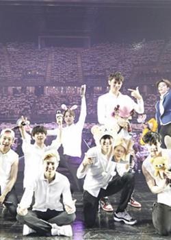 韩国男团EXO泰国曼谷演唱会高清舞台照
