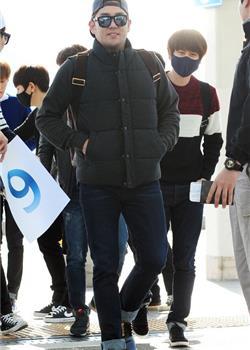 韩国帅哥Super Junior仁川国际机场图片