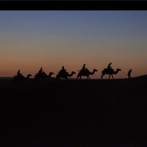 沙漠日落美景图 感受大漠之美