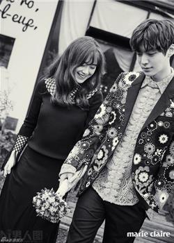 韩国男演员安宰贤与前妻具惠善济州岛婚纱照写真