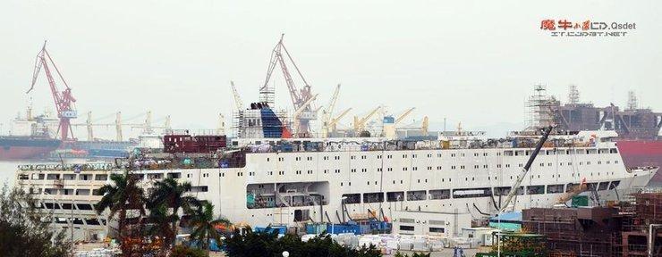 中国新航母保障舰建造进展曝光