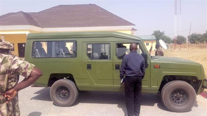 尼日利亚版勇士军车正式交付