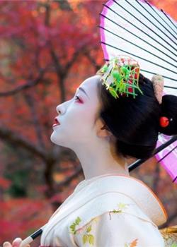 日本美女艺伎户外精致优雅妆容唯美小清新写真图片